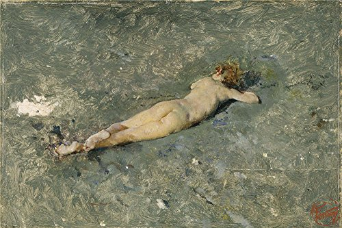 Oil Painting 'Fortuny Marsal Mariano Nude On The Beach At Portici 1874', 12 x 18 inch / 30 x 46 cm , on High Definition HD canvas prints is for Gifts And Garage, Kitchen And Powder Room Decoration