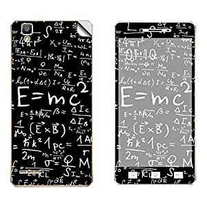 Skintice Designer Vinyl Skin Sticker for Oppo F1, Design - Mathematics