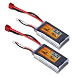 FLOUREON 2S 7.4V 1500mAh 35C Lipo RC Battery with T Plug for RC Cars, Truck, Truggy, Traxxas, Helicopter, Drone Loved by Hobby Fans (2pack) (Color: 7.4v 1500mah 35c T Plug(2pack), Tamaño: 7.4V 1500mAh 35C T Plug(2pack))