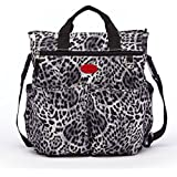 HC Leopard Diaper Bag Purse Stylish Diaper Bags Animal Print Fashionable Diaper Bags Baby Bags Tote Style Black...