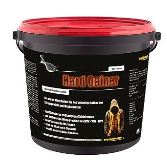 NEU! Hard Gainer Vanille 3000g - Wettkampfprotein Extreme Whey Gainer Kohlenhydrate Eiweiß Masse und extremer Muskelaufbau