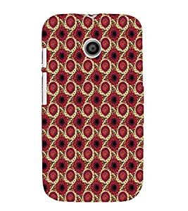 iFasho Animated Pattern design flower with leaves Back Case Cover for MOTO E