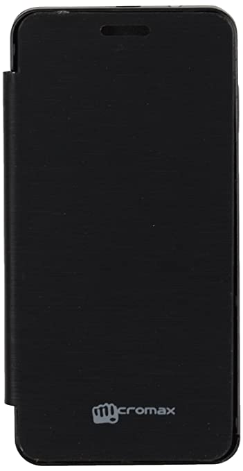 iCandy trade; Synthetic Leather Flip Cover For Micromax Bolt A67   BLACK available at Amazon for Rs.190