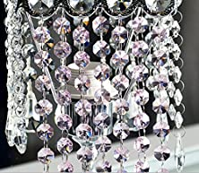 buy L-Run 6Ft Of Clear Chandelier Bead Lamp Chain High Quality (Pink)