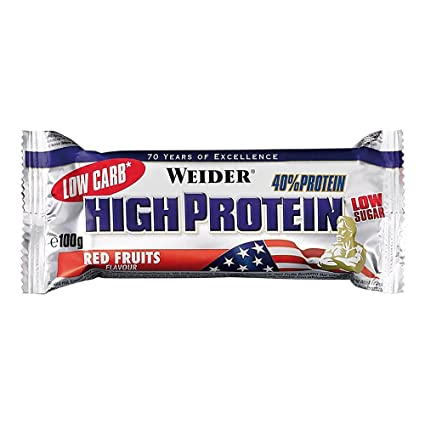 Weider - 40% High Protein Low Carb Bar - Red Fruits (20 Riegel á 100g) [Misc.]