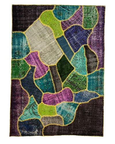 nuLOOM One-of-a-Kind Hand-Knotted Patchwork Lamia Rug, Multi, 6' 3 x 8' 7