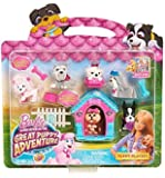 Barbie Great Puppy Adventure 13 Piece Puppy Playset with Pink & Blue Doghouse