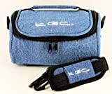 TGC ® Camera Case for Fujifilm FinePix S5700 with shoulder strap and Carry Handle (Full Dreamy Blue Denim)