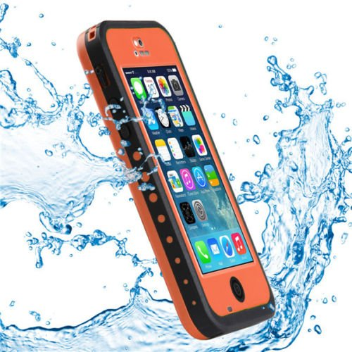 Pioneer Tech® Newest Waterproof Shockproof Dirt Snow Proof Durable Case Cover For Apple Iphone 5C (Orange)