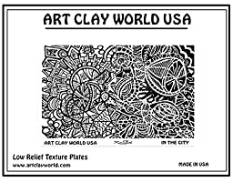 Art Clay World USA Low Relief Texture Shona Brooks In the City Design - 1 Pc.