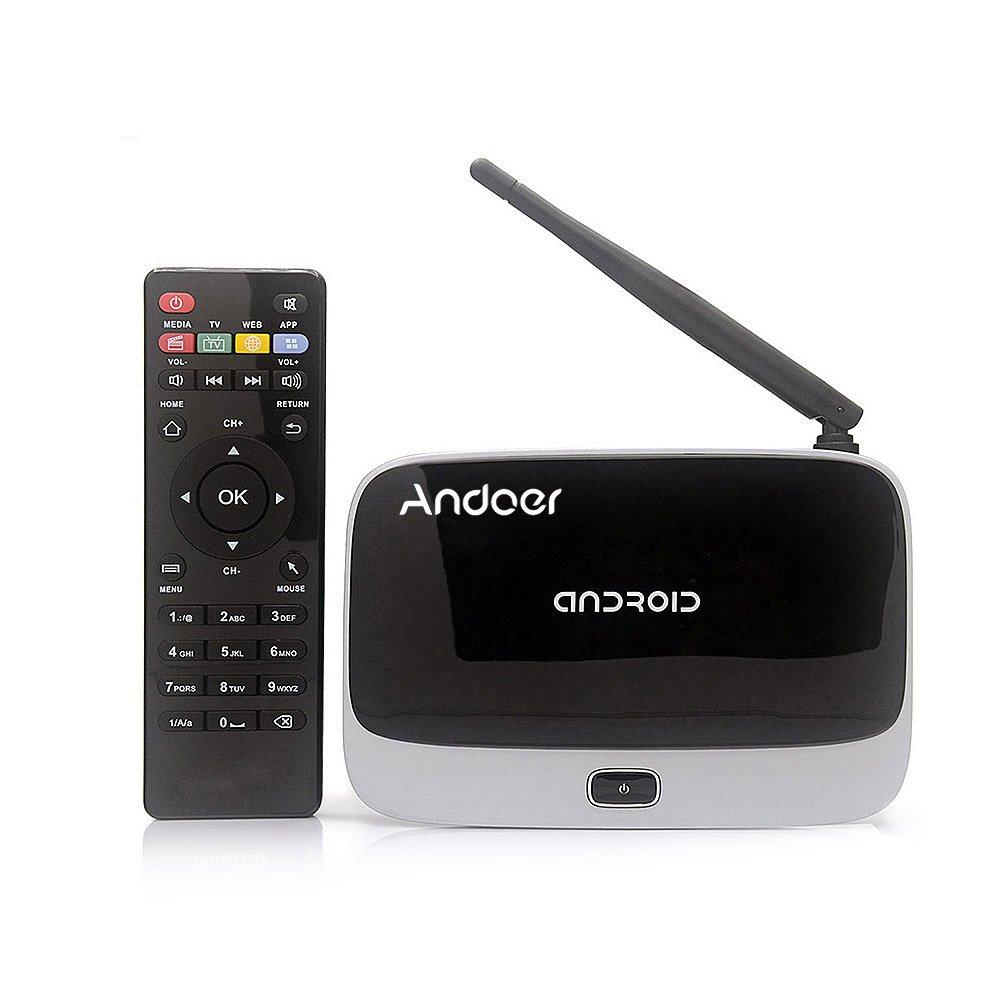 SHENNOSI CS918 Android 4.4 TV Box Player RK3188T Quad Core 1GB/8GB WiFi Smart TV Box WiFi 1080P Media Player with Remote Control US Plug