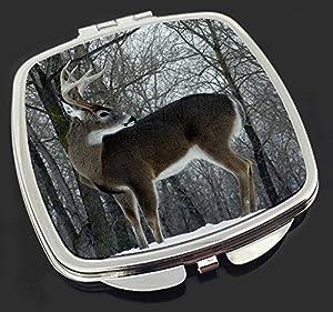 Cerf cerf dans la neige maquillage miroir compact cadeau for Piscine miroir en anglais