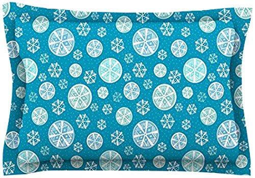 Kess InHouse Julie Hamilton Snowflake Sky Blue Woven Sham, 40 by 20-Inch kess inhouse danny ivan ticky ticky twin cotton duvet cover