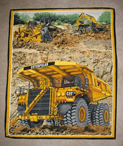 Cat Excavator/Tractor/Truck Print Fleece Blanket back-544454