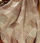 Manual Textured Diamond 100% Organic Cotton Natural Cocoa Throw Blanket 46x67