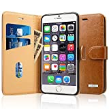 Labato iPhone 7 Plus ケース 手帳型 本革レザー アイフォン7プラス カバー TPU 財布型 スタンド機能 カードポケット手作り ハンドメイド 耐摩擦 耐汚れ 全面保護 フリップ 人気 全四色 (ブラウン lbt-I7L-02Z20)
