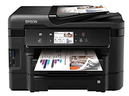 Epson Workforce WF-3540DWF Imprimante Jet d'encre multifonction 4en1 couleur avec Wifi  Ethernet Double bac papier  Recto Verso automatique en scan copie et impression