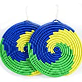 Yego Wave Earrings (Green, Yellow, Blue)