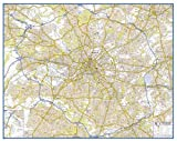 A-Z Premier Map of the City of Manchester (Flat Encapsulated Wall Map)
