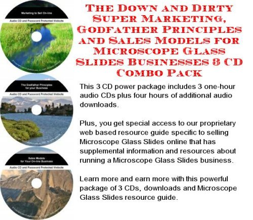 The Down And Dirty Super Marketing, Godfather Principles And Sales Models For Microscope Glass Slides Businesses 3 Cd Combo Pack