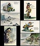 Disney Marc Davis Pirates of the Caribbean Concept Art 6 Postcards Set 1966