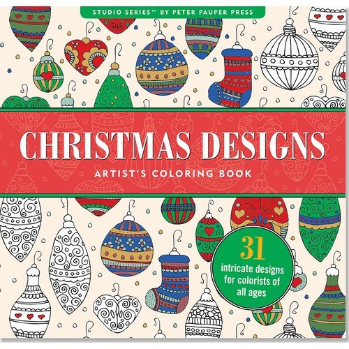 Christmas Designs Artist's Coloring Book (31 Stress-Relieving Designs) (Studio)