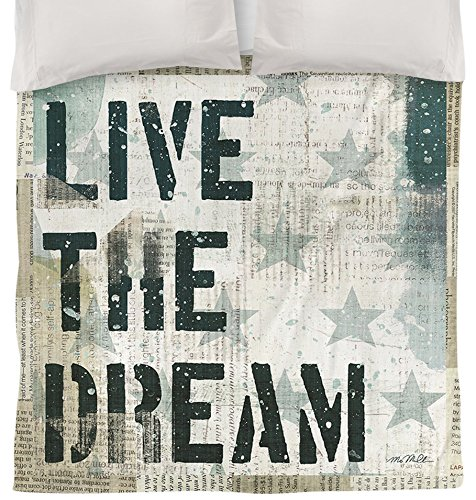 Thumbprintz Duvet Cover, Twin, American 1-Live The Dream