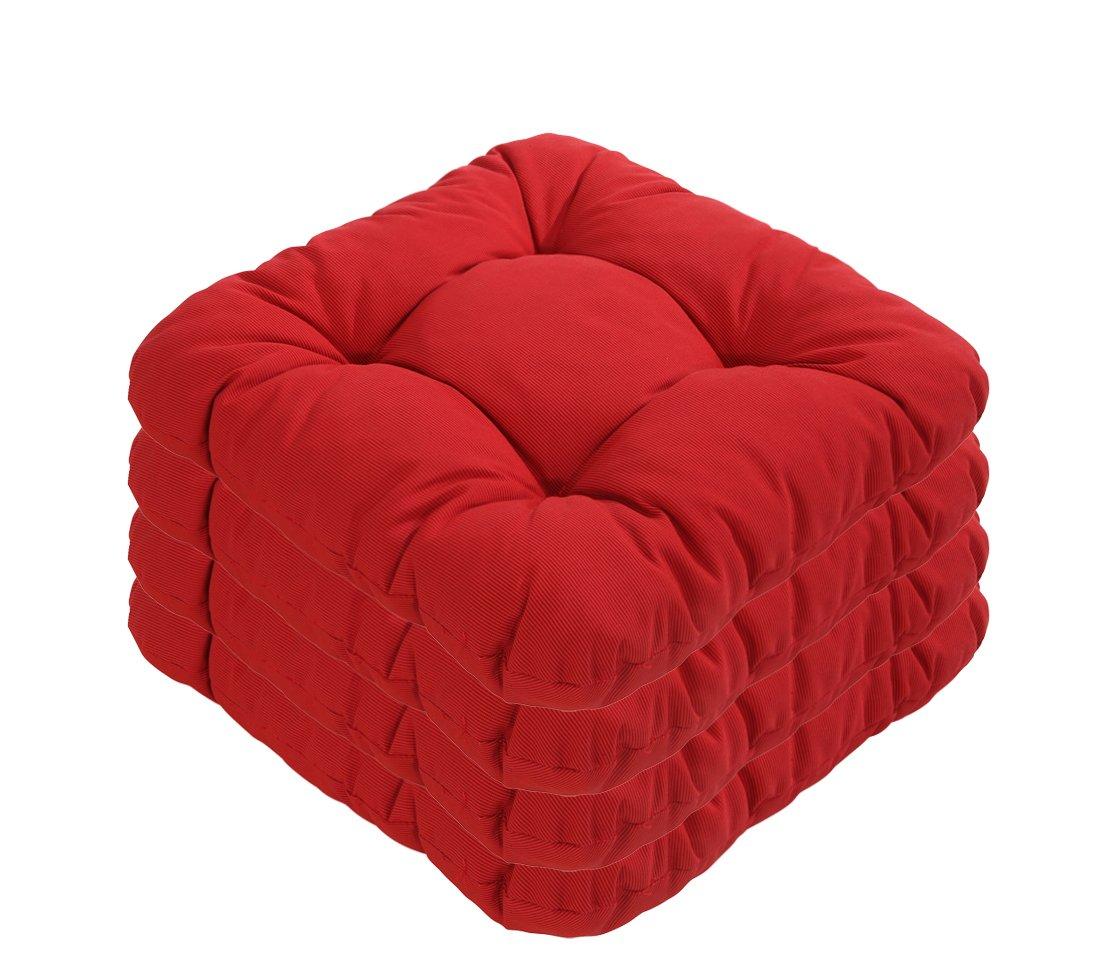 Dehner Susa-Sitzkissen, 4 Stück, je ca. 38 x 38 cm, rot günstig online kaufen