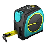 Mileseey Laser Tape Measure 40M /131 Feet with Rechargeable Battery Large LCD Display (Tamaño: 40M)