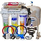 Système d'eau minérale alcaline à osmose inverse par UV 75GPD à 7 étapes d'iSpring, Modèle RCC7AK-UV