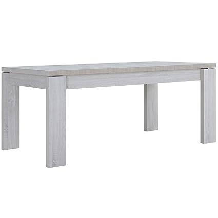 [en.casa] table 'Helsinki' (180 x 95 cm) (chêne - blanc) - plaqué MDF