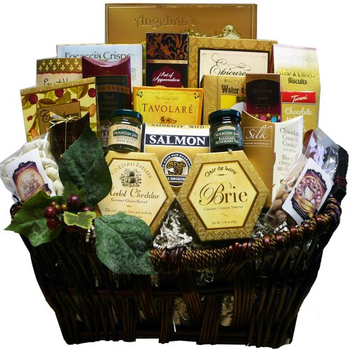 Art of Appreciation Gift Baskets Pick of the Season Gourmet Food Basket with Smoked Salmon (Gift Wine And Cheese Baskets compare prices)
