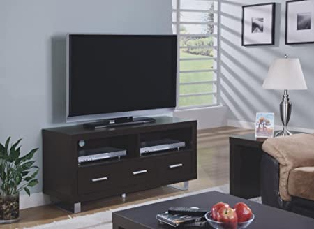 Berger Fine Lines 48-Inch 3-Drawer TV Console, Cappuccino
