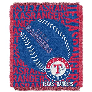 MLB Texas Rangers 48 x 60-Inch Double Play Jacquard Triple Woven Throw by Northwest