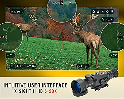 ATN X-Sight II Rifle Scope with 5-20X Smart HD Digital Night Vision, Matte Black by Green Supply