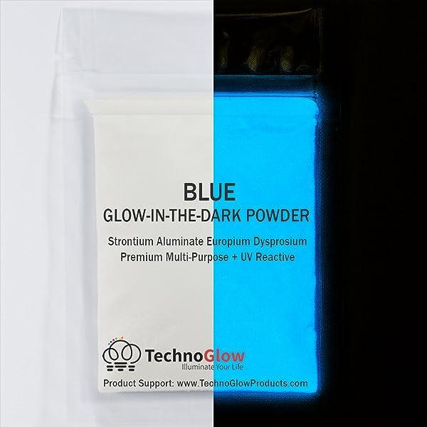 30g Blue Glow in the Dark Powder < 50 Microns (Color: blue, Tamaño: 30 Grams)