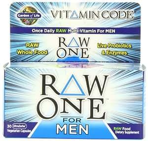 Garden of life vitamin code raw one for men 30 - Garden of life raw probiotics men ...