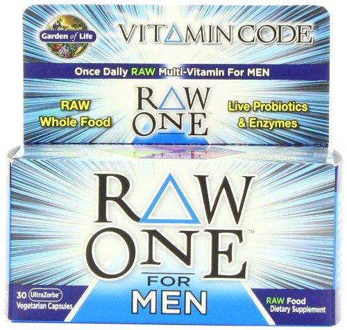 Garden Of Life Vitamin Code Raw One For Men Multivitamin, 30 Capsules