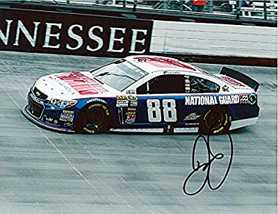 AUTOGRAPHED 2013 Dale Earnhardt Jr. #88 National Guard Racing BRISTOL MOTOR SPEEDWAY NASCAR Glossy Photo with COA