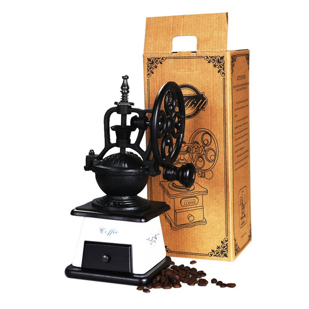 ASAPS Vintage Coffee Grinder (Black+White) 0