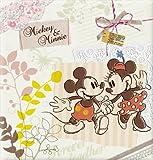 ディズニーシリーズ フエルアルバムDigio ビス式/Lサイズ/100年台紙 ミッキー&ミニー