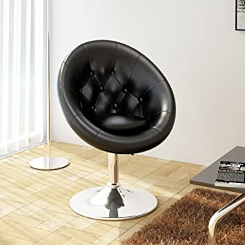 fauteuil retro capitonne blanc pied tulipe chrome