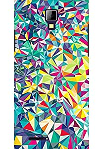 AMEZ designer printed 3d premium high quality back case cover for Micromax Canvas Xpress A99 (abstract shapes)