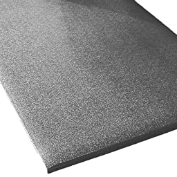 Rhino Mats CST-3672-38G Comfort Step Textured Vinyl Foam Anti-Fatigue Mat, 3\' Width x 6\' Length x 3/8\
