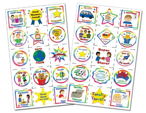 "Kenson Kids ""I Can Do It!"" Temporary Reward Tattoos - 30 Non-Toxic Temporary Reward Tattoos - Made in the USA"