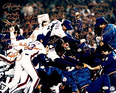 1986 New York Mets World Champions Team Autographed 16x20 Photo - JSA Certified - Autographed MLB Photos