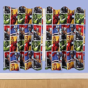 Disney 72-inch Marvel Avengers Team Curtains, Multi-Colour