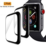 ANYSTAR Compatible with Apple Watch Series 4 Screen Protector,9H Hardness 0.3mm Ultra Slim 3D Full Coverage Premium Tempered Glass Screen Protector with Lifetime Replacement Warranty (2-Pack(40mm)) (Tamaño: 2-Pack(40mm))