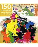 150 Gommettes autocollantes : Les Contes de Fées (avec support)