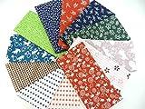 日本手ぬぐい 日本製 手拭12枚+和柄ハンドタオル3枚
